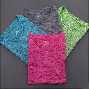 Dyeing female movement short sleeves wholesale