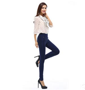 High elastic foot trousers female fashion leisure pencil pants wholesale