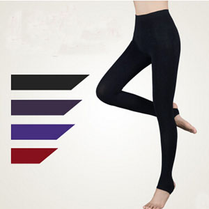 Woman seven colored cotton seamless warm trample feetpants wholesale