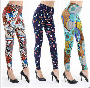 Music symbols printed female leggings
