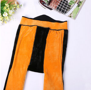 Three upset female velvet warm leggings wholesale