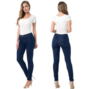 Wholesale corners fashion stretch jeans leggings woman