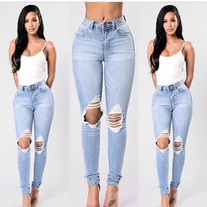 Wholesale corners fashion stretch jeans woman