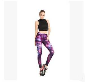 Star printing thin buttock movement nine points yoga pants wholesale
