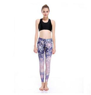 Snow sports breathable nine points yoga pants wholesale