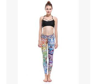 Female show thin cartoon character set nine points yoga pants wholesale