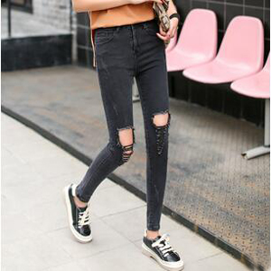Cultivate female morality hole wind jeans wholesale
