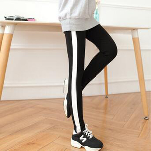 Female side white feet pants nine points wholesale