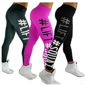 Printing yoga show thin air tight buttock cotton leggings wholesale