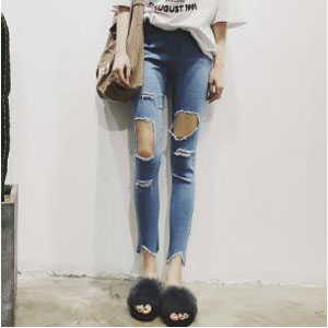 Female thin outer wear joker show thin tight pencil pants wholesale