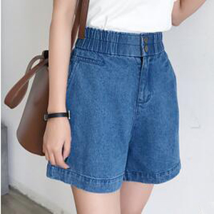 High-waisted leggy shorts wide-leg jeans wholesale