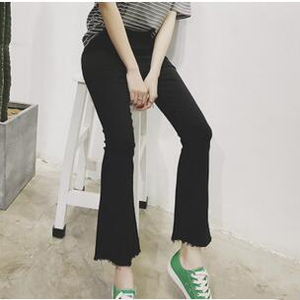 Wide-legged slacks female micro flared trousers wholesale
