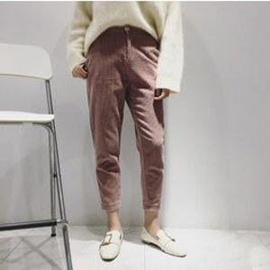 Female corduroy harem High-waisted casual pants wholesale
