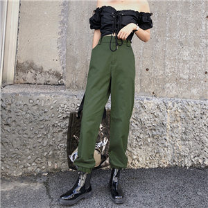 Wholesale high waist loose slimming pants