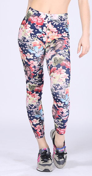 floral milk silk printed leggings with soft pants