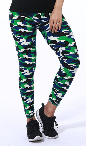 camouflage pattern spring leggings wholesale