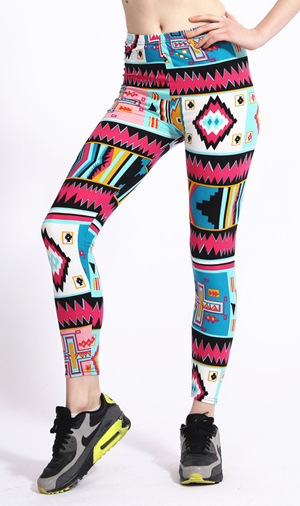A dash of geometric symbol milk silk leggings