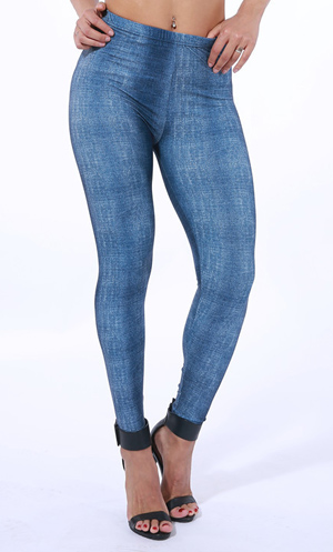 lmitation denim soft leggings USA