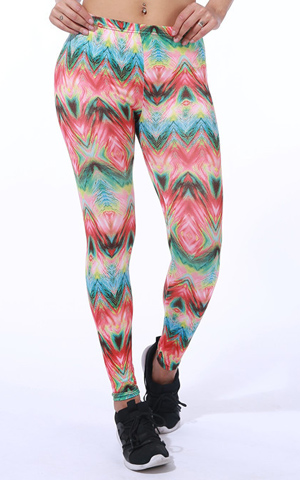 seven color wavy milk silk soft fabric leggings