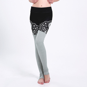 Cotton stitching digital printing yoga leggings