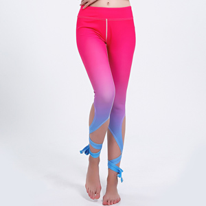 Gradient color bandage yoga leggings