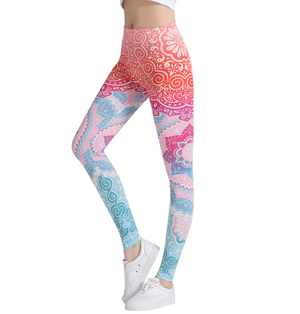Wholesale printed sweatpants yoga leggings