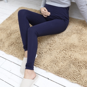 Bow cotton elastic maternity leggings