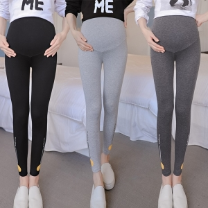 Smiley printing maternity leggings