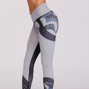 Hit color print slimming yoga pants