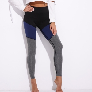 Contrast stitching fitness breathable yoga pants