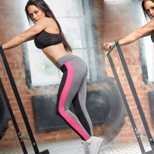 Contrast stitching sports fitness yoga pants