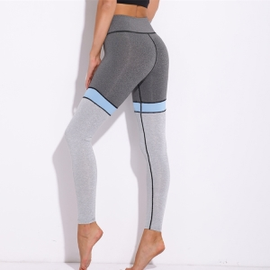 Breathable color stitching sports yoga pants