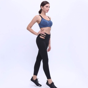 Waist hollow thickening yoga sports leggings