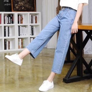 Canton cheap wide leg slim jeans
