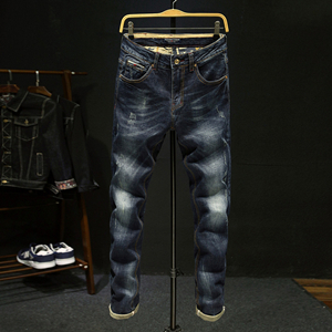 Wholesale slim straight motorcycle jeans