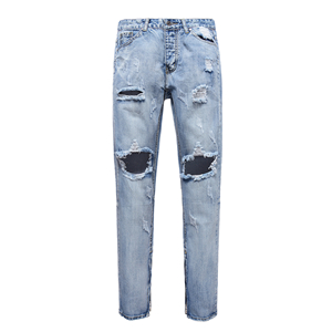 Mid-waist straight washed cheap jeans