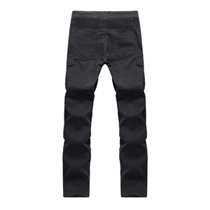 Mid-rise washed fold jeans
