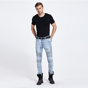 Wholesale stitching stretch jeans