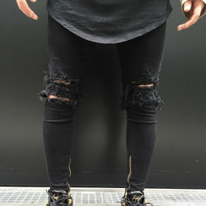 Canton wholesale hole slim locomotive men jeans