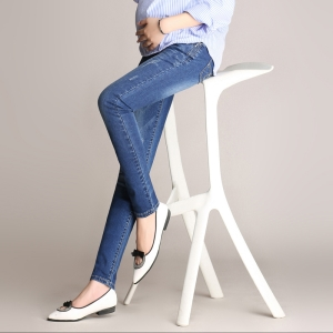 Wholesale cotton denim slim pencil pregnant feet leggings