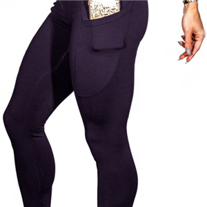 Solid color side pocket phone cotton sports yoga pants
