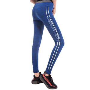 Wholesale fancy slim hip print nine points yoga pants