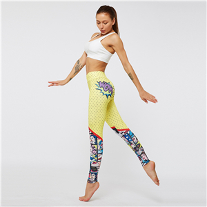 China wholesale cartoon pattern 3D printed yoga leggings