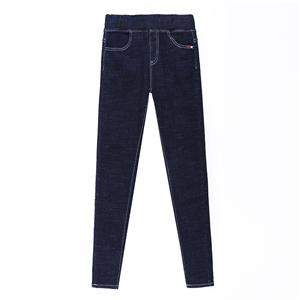 Wholesale high elastic waist cotton feet jeans