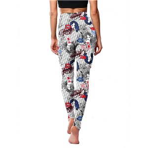 Chinese cheap modern girl lips printed leggings