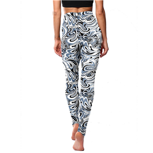 Wholesale gray water ripple print yoga leggings