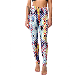 Wholesale African impression color striped print yoga leggings