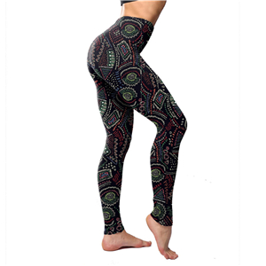 Wholesale color line print yoga leggings