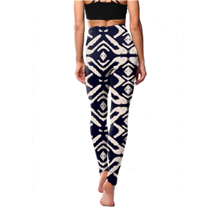 Wholesale geometric apricot striped print yoga leggings