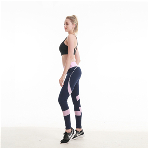 China wholesales stitching slim stretch yoga leggings